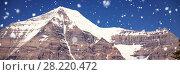 Купить «Snow capped mountain on a sunny day», фото № 28220472, снято 18 марта 2019 г. (c) Wavebreak Media / Фотобанк Лори