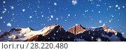 Купить «Snow capped mountain on a sunny day», фото № 28220480, снято 18 марта 2019 г. (c) Wavebreak Media / Фотобанк Лори
