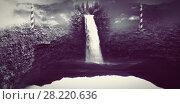 Купить «Waterfall in the void and stone», фото № 28220636, снято 24 августа 2019 г. (c) Wavebreak Media / Фотобанк Лори