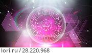 Astrology zodiac with triangle shapes. Стоковое фото, агентство Wavebreak Media / Фотобанк Лори