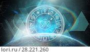 Купить «Astrology zodiac with planet and shapes», фото № 28221260, снято 20 сентября 2018 г. (c) Wavebreak Media / Фотобанк Лори