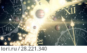Astrology zodiac with time and space and planets. Стоковое фото, агентство Wavebreak Media / Фотобанк Лори