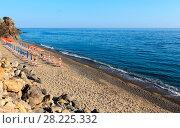 Купить «Tyrrhenian sea beach, Campania, Italy», фото № 28225332, снято 20 июня 2017 г. (c) Юрий Брыкайло / Фотобанк Лори