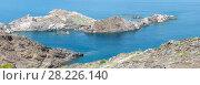 Купить «Costa Brava summer view from Cap de Creus, Spain.», фото № 28226140, снято 24 июня 2019 г. (c) Юрий Брыкайло / Фотобанк Лори