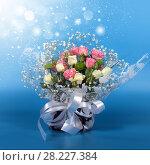 Купить «Blossom of beautiful flowers roses», фото № 28227384, снято 13 февраля 2018 г. (c) ElenArt / Фотобанк Лори