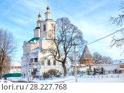 Купить «Старейший в городе Смоленск Спасо-Преображенский Авраамиев монастырь и Преображенский собор», фото № 28227768, снято 8 марта 2018 г. (c) Parmenov Pavel / Фотобанк Лори