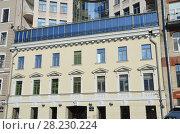 Санкт-Петербург, улица Гангутская зимой. Фасад дома 8 1800 года постройки (2018 год). Стоковое фото, фотограф Овчинникова Ирина / Фотобанк Лори