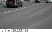 Купить «Moscow, Russia - September 1. 2017. movement of transport on St. George's passage in Zelenograd.», видеоролик № 28235128, снято 1 сентября 2017 г. (c) Володина Ольга / Фотобанк Лори