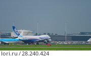 Купить «Airfreight before departure», видеоролик № 28240424, снято 27 июля 2017 г. (c) Игорь Жоров / Фотобанк Лори
