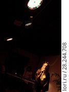 Купить «Певица Alina Os в ночном клубе», эксклюзивное фото № 28244708, снято 29 марта 2018 г. (c) Дмитрий Неумоин / Фотобанк Лори