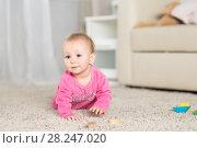 Купить «Baby eight months in the room», фото № 28247020, снято 6 февраля 2018 г. (c) Типляшина Евгения / Фотобанк Лори