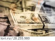 Купить «Businessman on background banknotes», фото № 28255980, снято 19 июля 2012 г. (c) Яков Филимонов / Фотобанк Лори