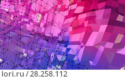 Купить «Low poly abstract background with modern gradient colors. Red blue 3d surface. V47», иллюстрация № 28258112 (c) Алексей Бураков / Фотобанк Лори