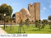 Купить «View of mausoleum complex Dorus-Saodat, Shakhrisabz, Uzbekistan», фото № 28259468, снято 16 октября 2016 г. (c) Юлия Бабкина / Фотобанк Лори
