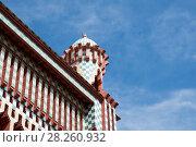 Купить «Casa Vicens is a house in Barcelona, designed by Antoni Gaudí», фото № 28260932, снято 31 марта 2018 г. (c) Ольга Визави / Фотобанк Лори