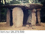 Купить «Pedra Gentil dolmen», фото № 28273500, снято 9 октября 2016 г. (c) Яков Филимонов / Фотобанк Лори