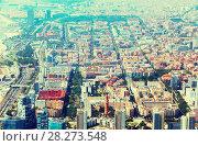 Купить «Aerial view of residence district in Barcelona», фото № 28273548, снято 1 августа 2014 г. (c) Яков Филимонов / Фотобанк Лори