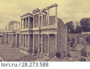 Купить «Antique Roman Theatre», фото № 28273588, снято 19 ноября 2014 г. (c) Яков Филимонов / Фотобанк Лори