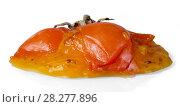 Купить «Rotten persimmon fruit isolated on white», фото № 28277896, снято 20 декабря 2017 г. (c) Сергей Молодиков / Фотобанк Лори