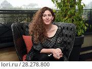 Купить «Annemarie Jacir during 'Wajib' film photocall, Rome, Italy 09 apr 2018.», фото № 28278800, снято 9 апреля 2018 г. (c) age Fotostock / Фотобанк Лори