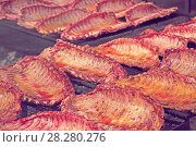 Купить «Ruddy pork ribs with a crust», фото № 28280276, снято 30 апреля 2017 г. (c) Яков Филимонов / Фотобанк Лори