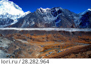 Купить «Trekking paths leading to Everest base camp. Lobuche village and Ngozumpa glacier. Solu Khumbu. Nepal.», фото № 28282964, снято 4 июля 2020 г. (c) age Fotostock / Фотобанк Лори