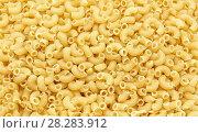 Купить «Coil macaroni macro with additional texture and details», фото № 28283912, снято 9 апреля 2018 г. (c) Константин Шишкин / Фотобанк Лори