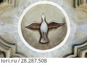 Les Plagnes baroque chapel. The Holy Spirit in the form of a dove. Стоковое фото, фотограф Godong/UIG / age Fotostock / Фотобанк Лори