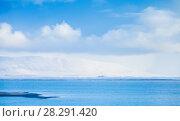 Icelandic coastal landscape, small isle (2017 год). Стоковое фото, фотограф EugeneSergeev / Фотобанк Лори
