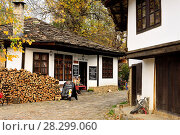 Купить «Traditional houses and street of Bojentsi, Bulgaria.», фото № 28299060, снято 22 октября 2017 г. (c) age Fotostock / Фотобанк Лори