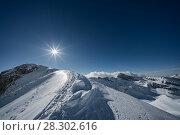 Купить «Portella mountain's ridge on winter, Campo Imperatore, L'Aqulia province, Abruzzo, Italy, Europe.», фото № 28302616, снято 11 декабря 2018 г. (c) age Fotostock / Фотобанк Лори