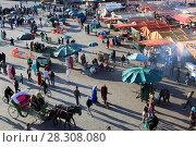 Купить «Jemaa el Fna (Djemaa el Fnaa) Square, UNESCO World Heritage Site, Marrakesh (Marrakech), Morocco, North Africa, Africa», фото № 28308080, снято 22 марта 2017 г. (c) age Fotostock / Фотобанк Лори
