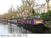 Купить «House Boats, Little Venice, Regents Canal, London, England, United Kingdom, Europe», фото № 28308116, снято 30 марта 2017 г. (c) age Fotostock / Фотобанк Лори