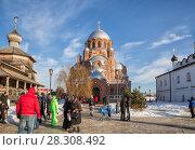 Купить «Иоанно-Предтеченский монастырь зимним днем. Свияжск», фото № 28308492, снято 5 января 2018 г. (c) Юлия Бабкина / Фотобанк Лори