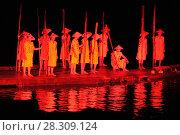 Купить «Impression Liu Sanjie Night Light Show Performance on the Li River Yangshuo China», фото № 28309124, снято 23 мая 2018 г. (c) BE&W Photo / Фотобанк Лори