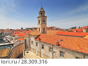 Купить «View of Dominican monastery in Dubrovnik, Croatia», фото № 28309316, снято 26 июня 2019 г. (c) BE&W Photo / Фотобанк Лори