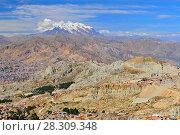 View of Mount Illamani and La Paz, Bolivia, South America. Стоковое фото, агентство BE&W Photo / Фотобанк Лори
