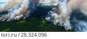 Купить «Лес горит, вид сверху», фото № 28324096, снято 12 июля 2007 г. (c) Владимир Мельников / Фотобанк Лори