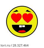 Купить «Loving smiley on white background», иллюстрация № 28327464 (c) Сергей Лаврентьев / Фотобанк Лори