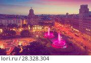 Купить «Square of Catalonia», фото № 28328304, снято 19 мая 2017 г. (c) Яков Филимонов / Фотобанк Лори