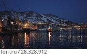 Купить «Петропавловск-Камчатский морской торговый порт», видеоролик № 28328912, снято 23 апреля 2018 г. (c) А. А. Пирагис / Фотобанк Лори