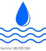 Купить «Water Drop and Wave», иллюстрация № 28335324 (c) Сергей Лаврентьев / Фотобанк Лори