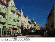 Купить «center of Kaposvar, Hungary», фото № 28336656, снято 1 ноября 2017 г. (c) Яков Филимонов / Фотобанк Лори