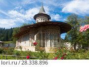 Купить «Church of Voronet Monastery, Bucovina», фото № 28338896, снято 15 сентября 2017 г. (c) Яков Филимонов / Фотобанк Лори