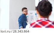Купить «creative man at user interface presentation», видеоролик № 28343864, снято 17 апреля 2018 г. (c) Syda Productions / Фотобанк Лори