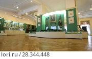 Interior of one of the halls of the museum of Local History (2018 год). Редакционное видео, видеограф FotograFF / Фотобанк Лори