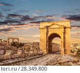 North Gate, Ancient Roman city of Gerasa of Antiquity, modern Jerash, Jordan (2016 год). Стоковое фото, фотограф Наталья Волкова / Фотобанк Лори
