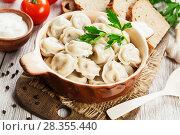 Dumplings in the pot. Стоковое фото, фотограф Надежда Мишкова / Фотобанк Лори