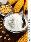 Купить «Starch and corn cob», фото № 28355456, снято 12 марта 2018 г. (c) Надежда Мишкова / Фотобанк Лори