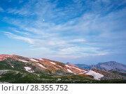 Купить «Evening light over Mainarde mountain range, Molise. Central Apennines, Italy.», фото № 28355752, снято 29 мая 2020 г. (c) Nature Picture Library / Фотобанк Лори